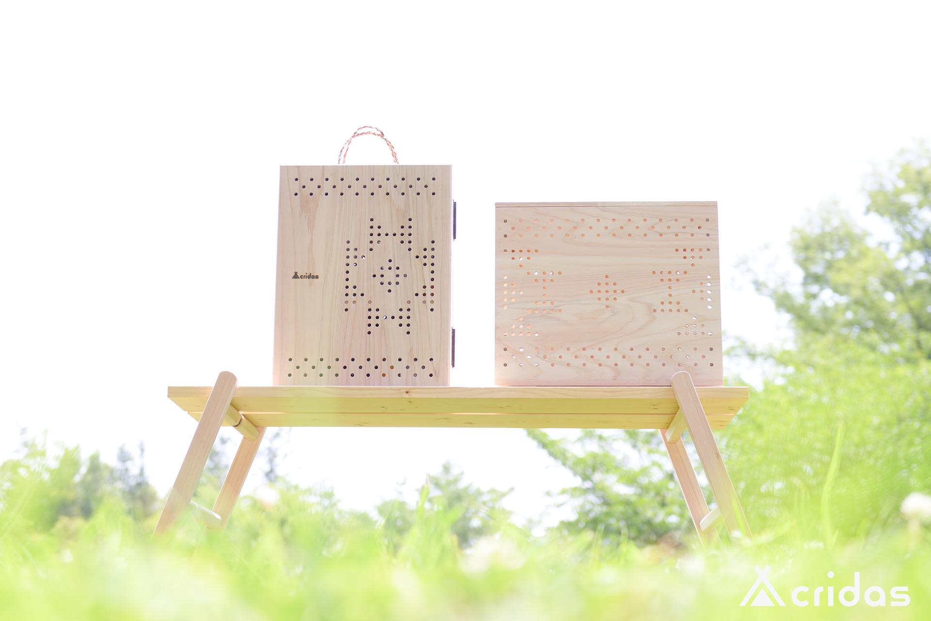 国産木材の特性を生かしたキャンプギアブランド 『cridas(クリダス)』